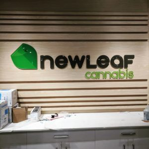 New leaf cannabis logo